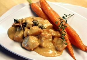 Braised Pork with Apple Cream Sauce