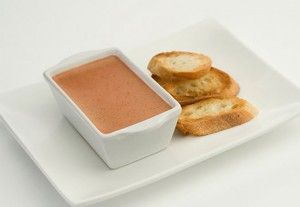Chicken Livers and Apple Mousse
