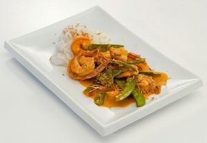 Thai-Style Shrimp and Snow Peas