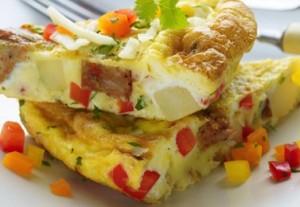 Sweet Pepper Potato Omelet