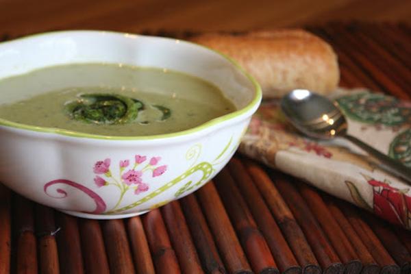 Cream of Fiddlehead Soup