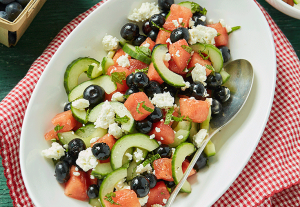 Blueberry, Watermelon, Cucumber and Feta Salad