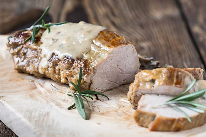 Pork Tenderloin with Mustard and Tarragon Sauce