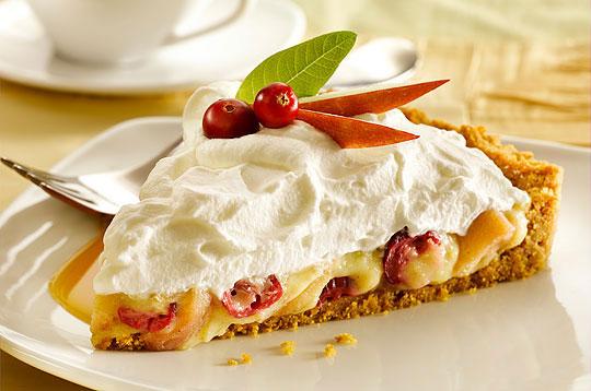 Apple Cranberry Custard Vanilla Cream Tart