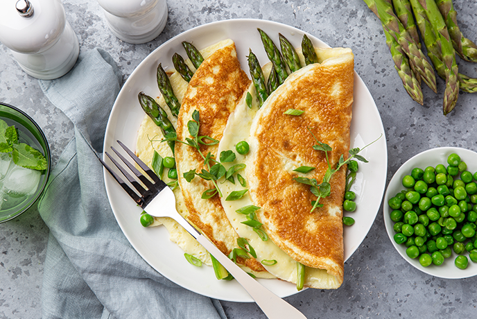 Asparagus and Chive Cream Omelette