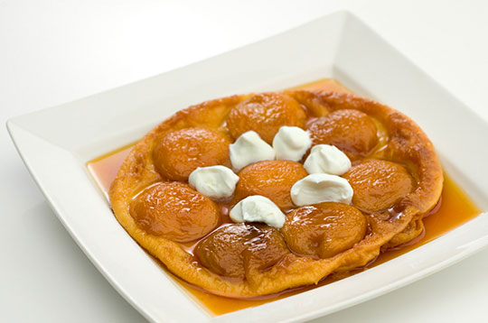 Caramelized Peach Tarte Tatin