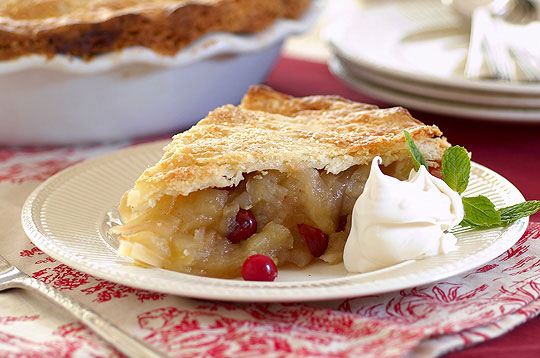 Deep Dish Apple and Cranberry Pie