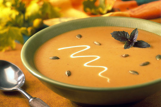 Honeyed Cream of Pumpkin Soup