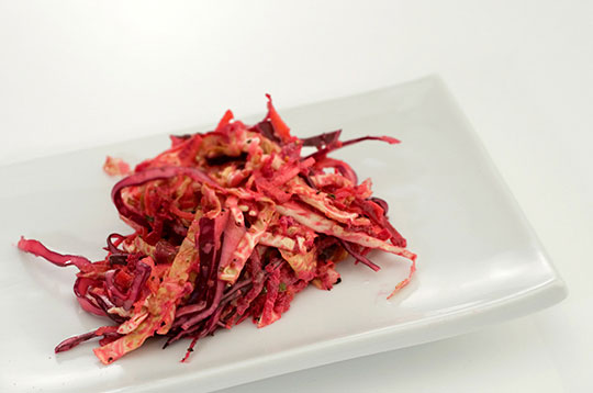 Red and Savoy Cabbage Salad