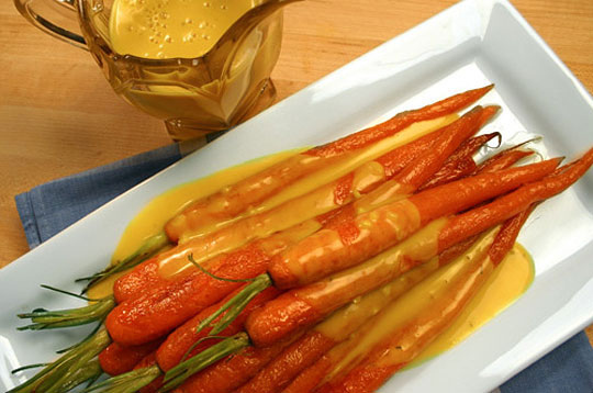 Roasted Carrots with a Spicy Cream Sauce