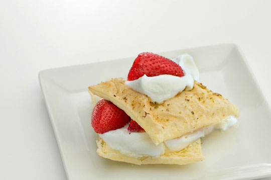 Strawberries and Whipped Cream Pastry