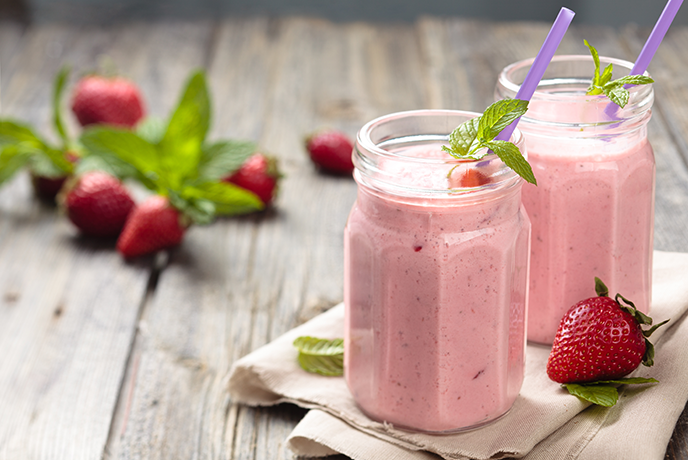 Strawberry, Banana and Yogurt Smoothie