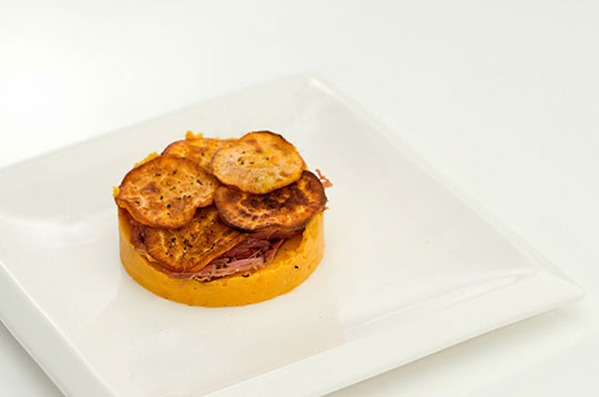 Sweet Potato Parmentier with Canard Confit