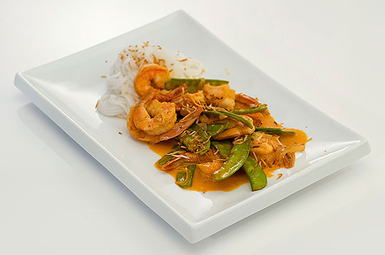 Thai-Style Shrimp and Snow Peas