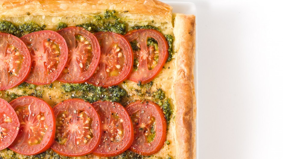 Cocktail Tomato Pesto Tart