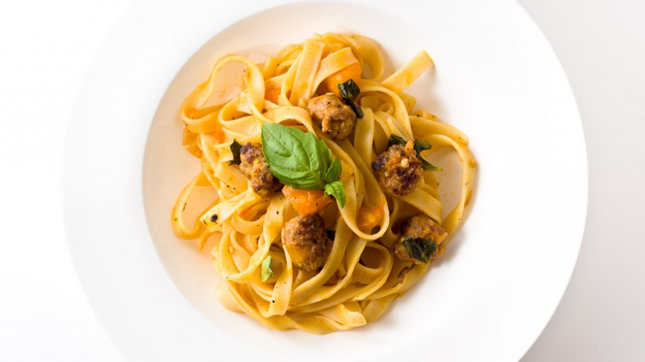 Tagliatelle with Orange and Yellow Tomatoes