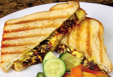 Roasted Pepper Grilled Cheese Sandwich