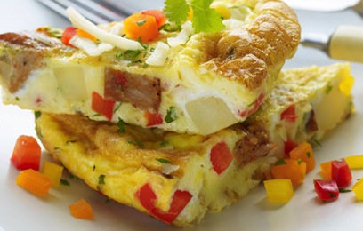 Sweet Pepper Potato Omelet