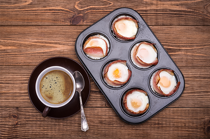 Baked Eggs and Ham for a Crowd