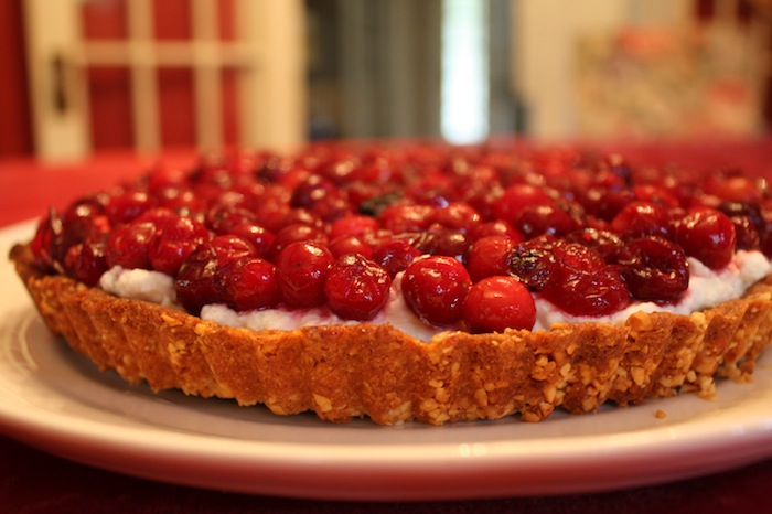Cranberry Lime Cream Cheese Tart