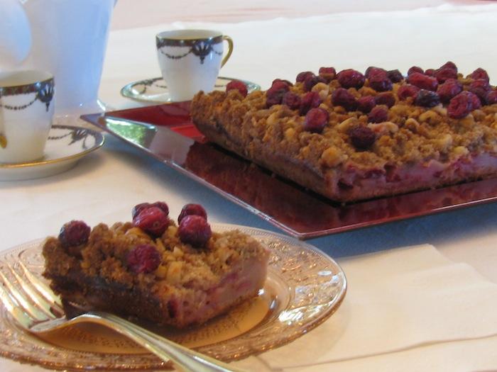 Cranberry Hazelnut Coffee Cake