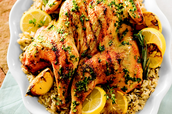 Greek Butterflied Herbed Chicken