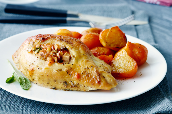 Cheddar Apple Stuffed Chicken