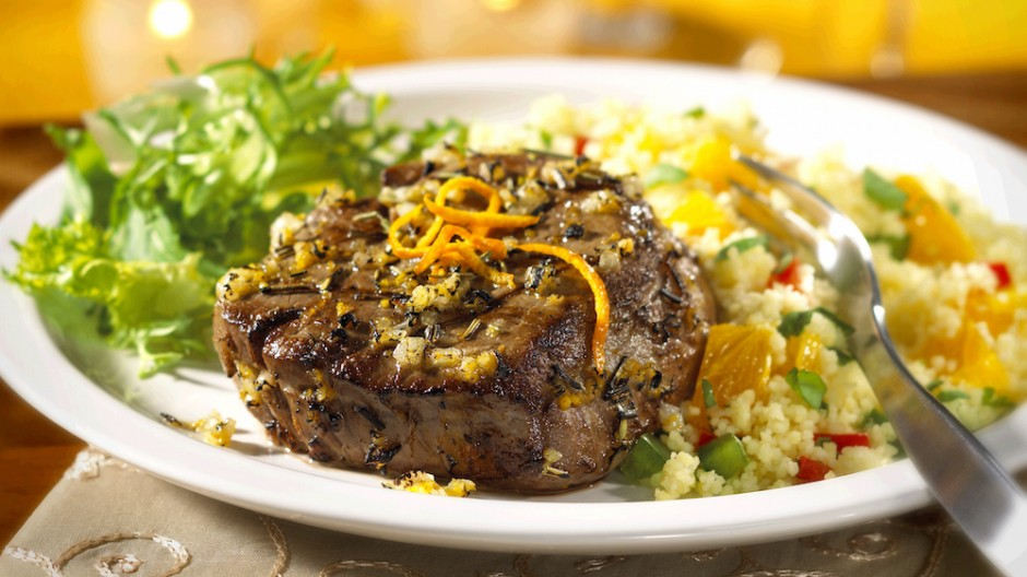 Barcelona Beef Steak with Spanish Couscous Salad