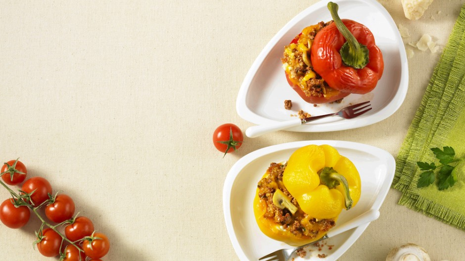 Quinoa and Beef Stuffed Peppers