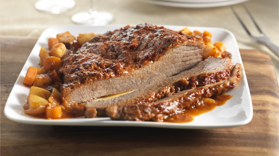 Slow Cooker Spiced Beef Brisket