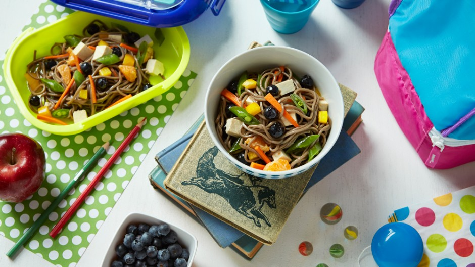 Blueberry Soba Noodle Salad
