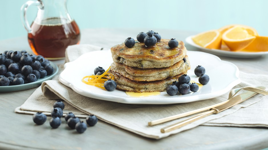 Spiced Blueberry Pancakes