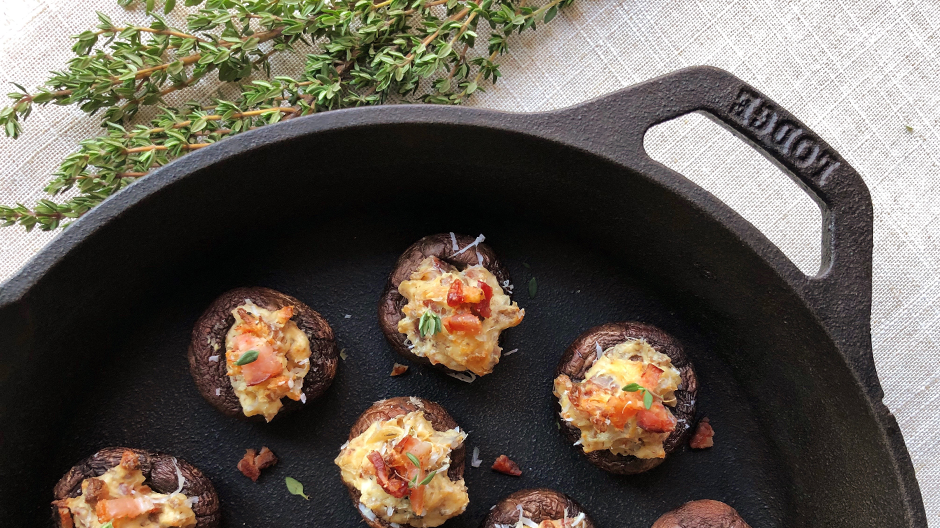 Cream Cheese & Bacon Stuffed Mushrooms
