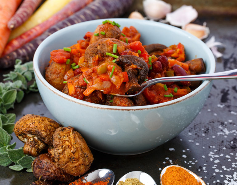 Whole Roasted Mushroom Chili