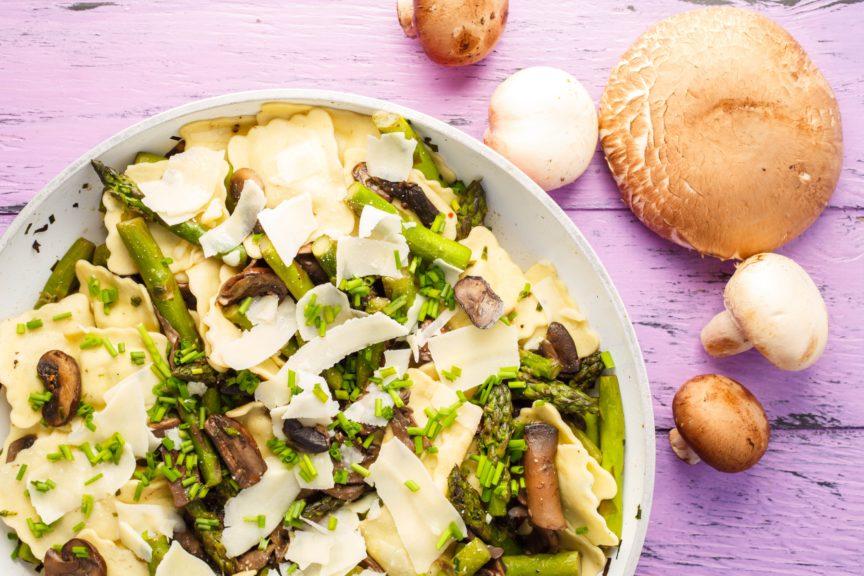 Asparagus-Mushroom Ravioli