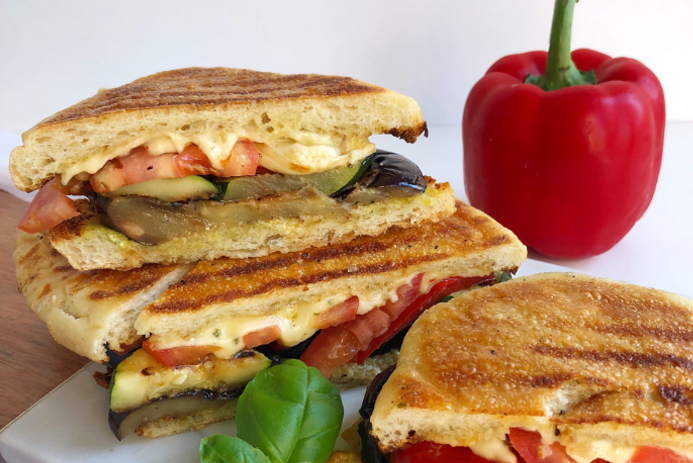 BC Greenhouse Vegetable Panini