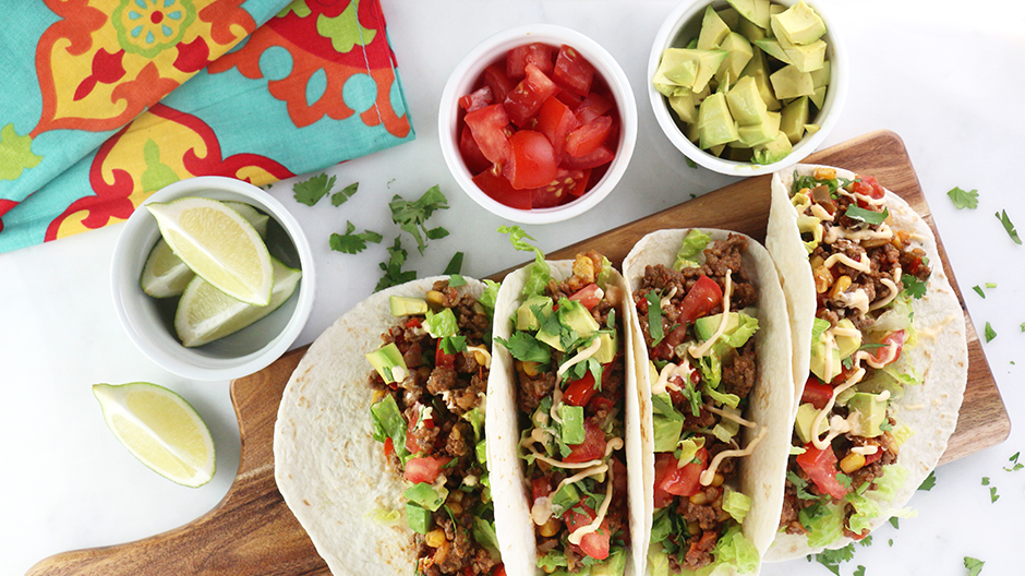 Tex-Mex Beef Tacos