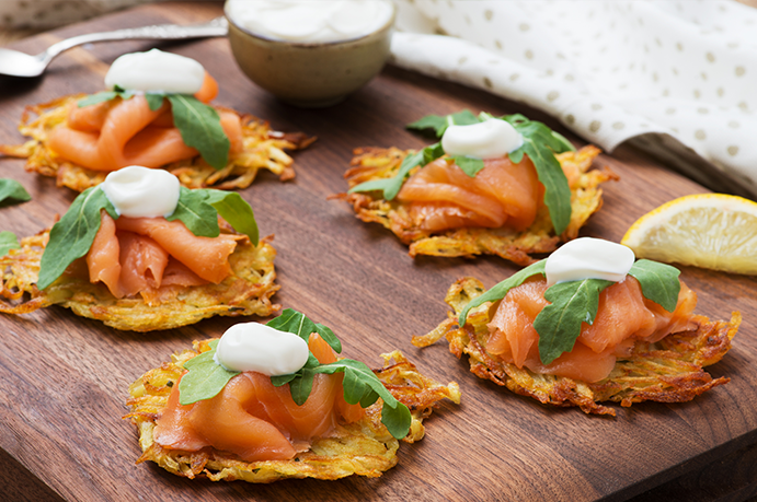 BCfresh Potato Rösti with Smoked Salmon