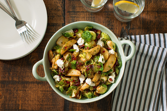 Warm Potato and Brussels Sprouts Salad