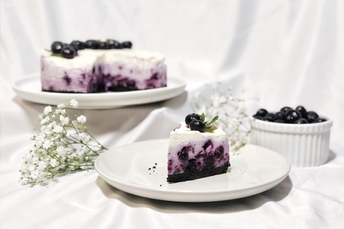 Ombre Blueberry Cheesecake