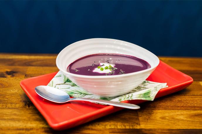 Warm Blueberry Bisque