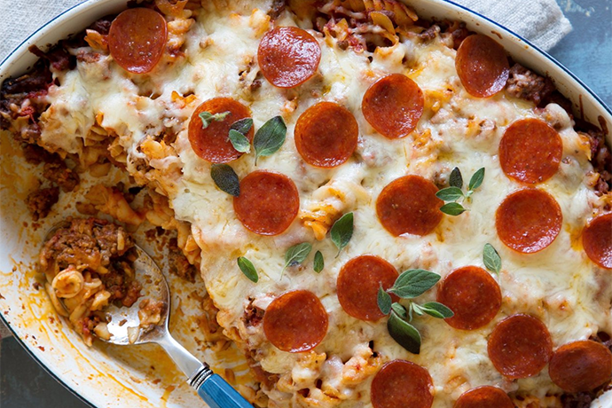 Pepperoni Baked Pasta