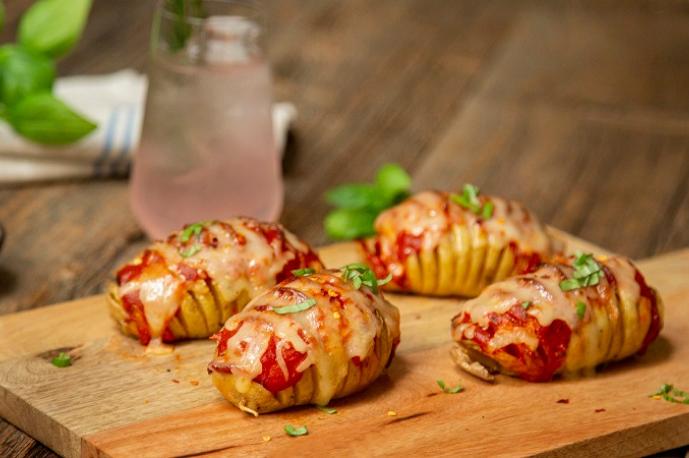 Pepperoni Pizza Hasselback Potato