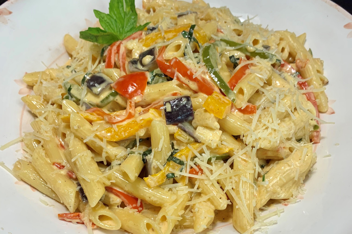 BC Greenhouse Penne with Asiago Cream
