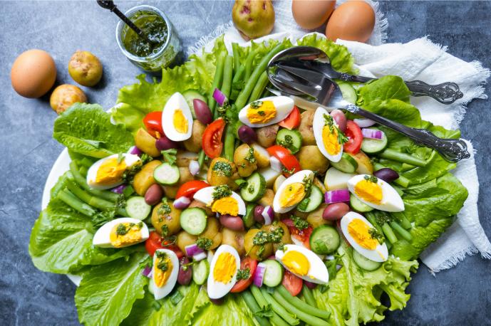 Warba Potato Nicoise Salad with Herb Salad Dressing