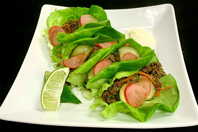 BC Beef Zesty Lettuce Wraps