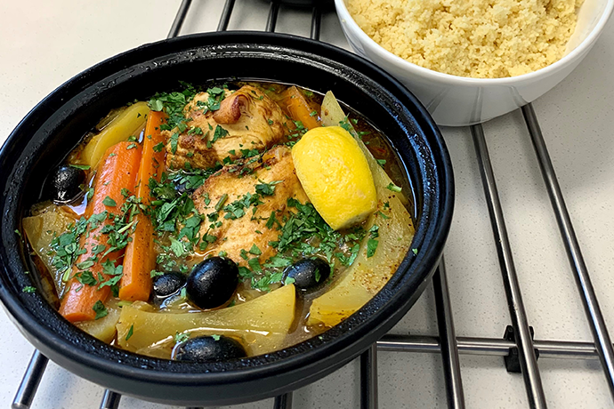 Organic Braised Moroccan Chicken With Couscous